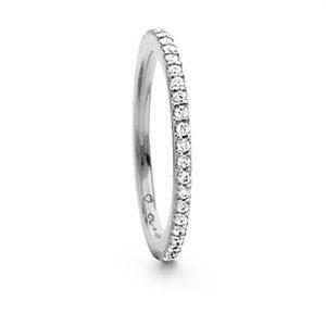 Mestergull Love Band rekkering i 18 K Gult gull med Hvite diamanter 0,40-0,47 ct. TwVs LYNGGAARD Love Ring