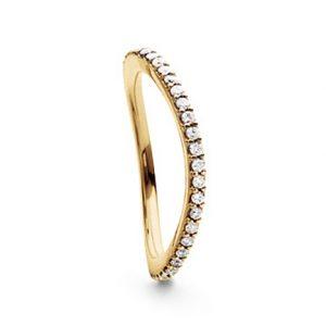 Mestergull Love Band buet rekkering i 18 K Gult gull med diamanter 0,40-0,47 ct. TwVs LYNGGAARD Love Ring