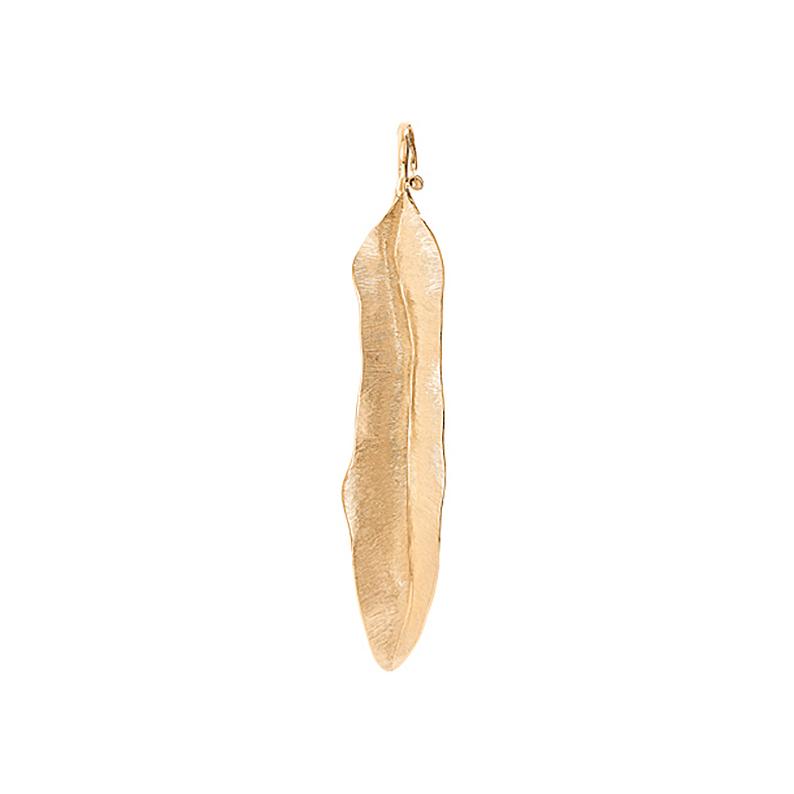 Mestergull Leaves anheng Medium i 18 K Gult gull 6,5 cm LYNGGAARD Leaves Anheng