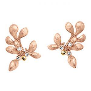 Mestergull Gipsy mini ørepynt i 18 K Rosé gull med gult gull detaljer - 6 diamanter totalt 0,06 ct. TwVs LYNGGAARD Gipsy Ørepynt