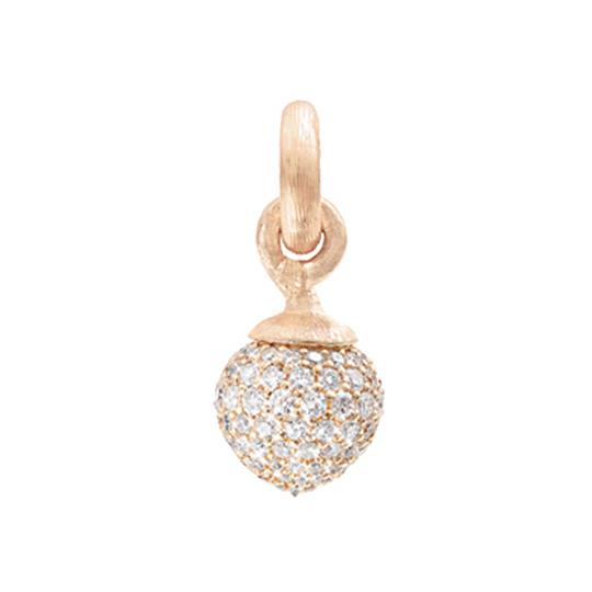 Mestergull Charm stor Sweet Drops i 18 K Rosé gull pavé med 115 diamanter totalt 1,37 ct. TwVs LYNGGAARD Sweet Drops Charm