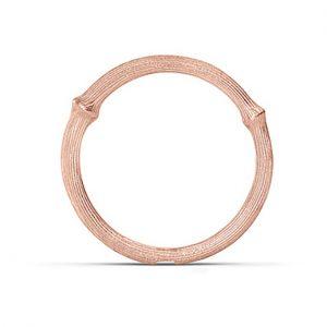 Mestergull Nature Ring nr. 1 i 18 K Rosé gull LYNGGAARD Nature Ring