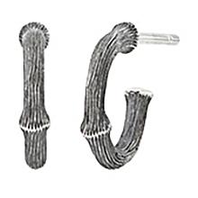 Mestergull Nature øreringer mini i oksidert sølv 10 mm LYNGGAARD Nature Ørepynt