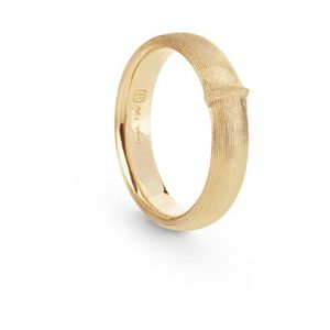 Mestergull Nature ring herre bred i 18 K Gult gull LYNGGAARD Nature Ring