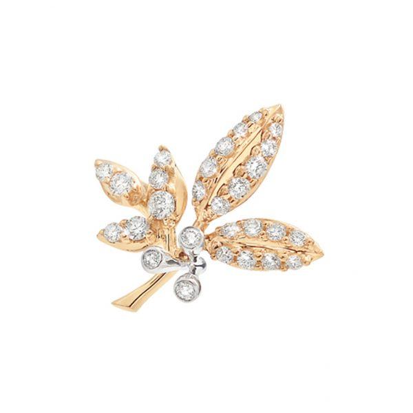 Mestergull Sweet Spot lille Winter Frost i 18 K Gult gull med 28 diamanter totalt 0,43 ct. TwVs LYNGGAARD Sweet Spot Charm