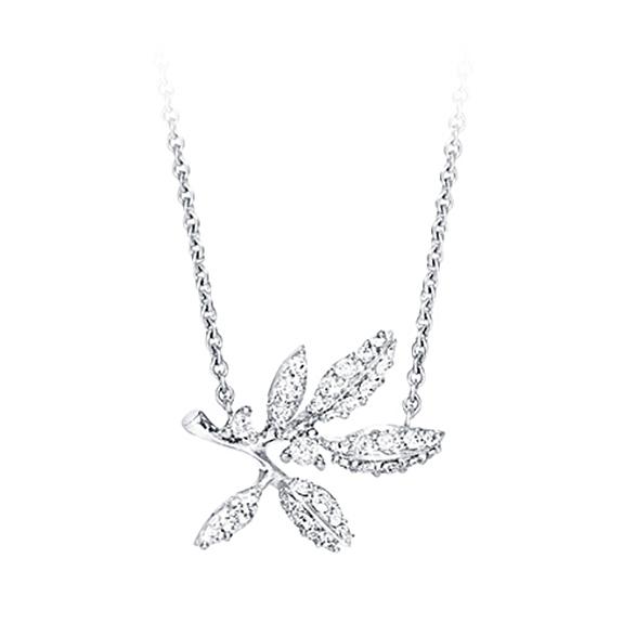 Mestergull Winter Frost collier i 18kt. hvitt gull med 36 diamanter totalt 0,21 ct. TwVs LYNGGAARD Winter Frost Kjede