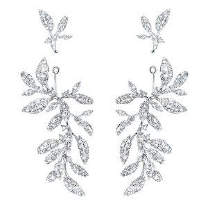 Mestergull Winter Frost collier i 18kt. hvitt gull med 36 diamanter totalt 0,21 ct. TwVs LYNGGAARD Winter Frost Ørepynt