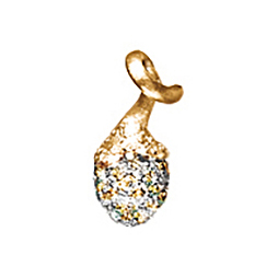 Mestergull My Little World charm pavéknopp i 18 K Gult gul med 67 diamanter totalt 0,39 ct. TwVs LYNGGAARD My Little World Charm