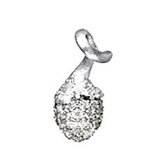 Mestergull My Little World charm pavéknopp i 18 K Hvitt gull med 67 diamanter totalt 0,39 ct. TwVs LYNGGAARD My Little World Charm