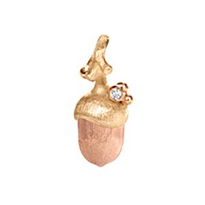 Mestergull Anheng lille eikenøtt Forest i 18 K gGult og rosé gull - 1 diamant 0,01 ct. TwVs LYNGGAARD Forest Anheng