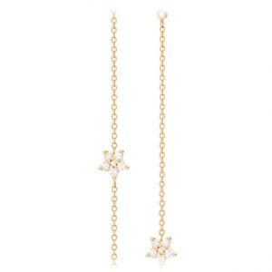 Mestergull Shooting Stars anker collier i 18 kt. gult gull med 29 diamanter totalt 0,3 ct. TwVs 40/42/45 cm LYNGGAARD Shooting Stars Kjede
