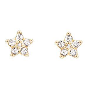 Mestergull Shooting Stars små ørepynt i 18 K Gultg gull med 12 diamanter totalt 0,21 ct. TwVs LYNGGAARD Shooting Stars Ørepynt