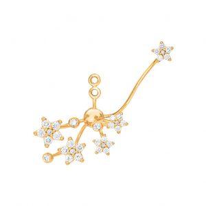Mestergull Shooting Stars vedheng til ørepynt i 18 K Gult gull med 33 diamanter totalt 0,30 ct. TwVs selges enkeltvis LYNGGAARD Shooting Stars Ørepynt