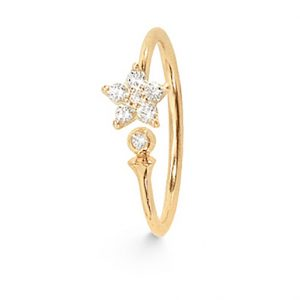Mestergull Shooting stars ring med 7 diamanter totalt 0,115 ct. TwVs LYNGGAARD Shooting Stars Ring