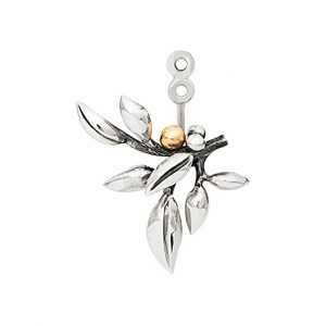 Mestergull Forest vedheng til ørepynt i sølv med 18 K Gult gull detaljer Selges enkeltvis LYNGGAARD Forest Ørepynt