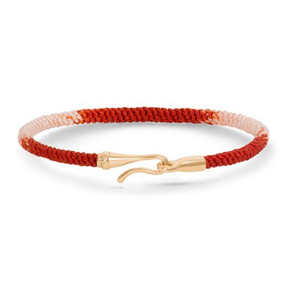 Mestergull Life armbånd med lås i 18 K Gult gull Red Emotions (15, 16, 17, 18, 19, 20, 21 cm) LYNGGAARD Life Armbånd