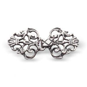 Mestergull Capehekter i oksidert sølv og åpent mønster NORSK BUNADSØLV Spenne