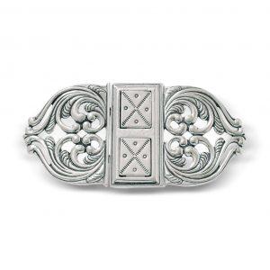 Mestergull Spenne i oksidert sølv NORSK BUNADSØLV Spenne