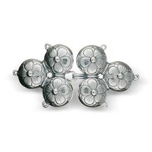Mestergull Capespenne i oksidert sølv til Sunnmøre NORSK BUNADSØLV Spenne