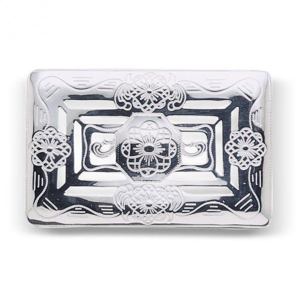 Mestergull Beltespenne til Buskerud i hvitt sølv NORSK BUNADSØLV Spenne