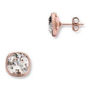 Mestergull Lekker ørepynt i roseforgylt sølv med hvite swarovski krystaller GID Ørepynt