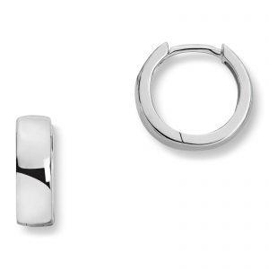 Mestergull Trendy øreringe i rhodinert sølv med cubic zirkonia MESTERGULL Ørepynt