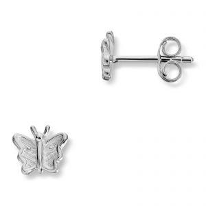 Mestergull Søt ørepynt som sommerfugl i rhodinert sølv MG BASIC Ørepynt