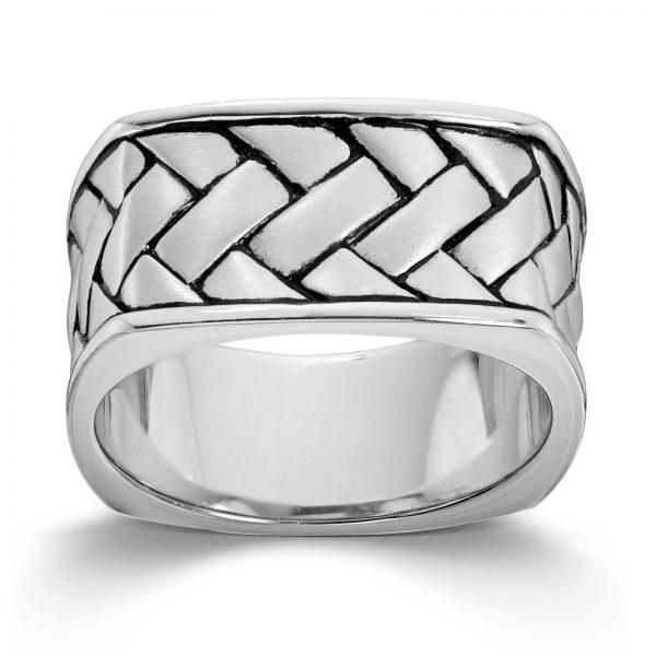 Mestergull Kraftig ring til herre i rhodinert sølv MESTERGULL Ring