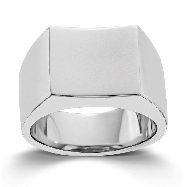 Mestergull Enkel ring til herre i rhodinert sølv MESTERGULL Ring