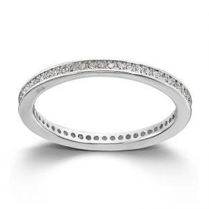 Mestergull Stilren ring i rhodinert sølv med cubic zirkonia MG BASIC Ring
