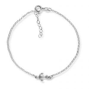 Mestergull Enkel ankellenge i sølv med anker MESTERGULL Ankellenke