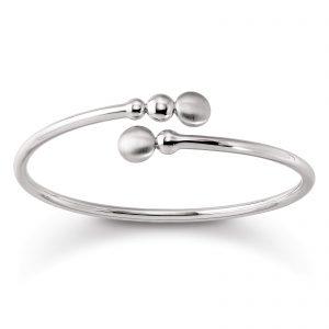 Mestergull Enkel armring i rhodinert sølv VIVENTY Armring