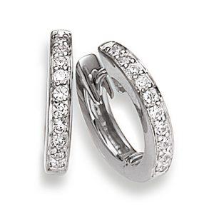 Mestergull Stilrene øreringer i rhodinert sølv med cubic zirkonia VIVENTY Ørepynt
