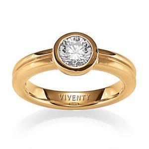 Mestergull Tidløs ring i forgylt sølv med cubic zirkonia VIVENTY Ring