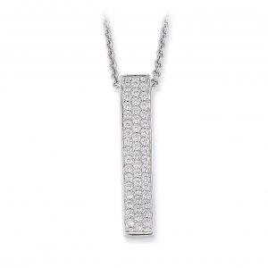 Mestergull Vakkert anheng i rhodinert sølv med cubic zirkonia VIVENTY Anheng