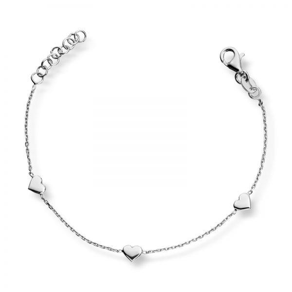 Mestergull Søtt armbånd i rhodinert sølv MG BASIC Armbånd