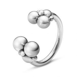 Mestergull Moonlight Grapes Ring i sølv GEORG JENSEN Grape Ring