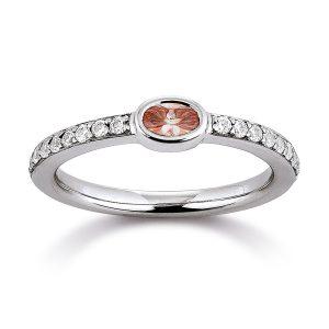 Mestergull Lekker ring i rhodinert sølv med rosa og hvite cubic zirkonia VIVENTY Ring
