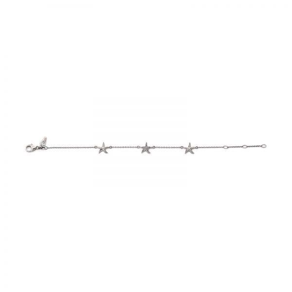 Mestergull Flott armbånd med stjerne i rhodinert sølv med cubic zirkonia VIVENTY Armbånd
