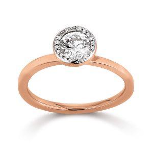 Mestergull Elegant ring i rosèforgylt sølv med cubic zirkonia VIVENTY Ring