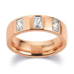 Mestergull Tøff ring i rosèforgylt sølv med cubic zirkonia VIVENTY Ring