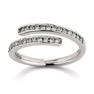 Mestergull Tøff ring i rhodinert sølv med cubic zirkonia VIVENTY Ring
