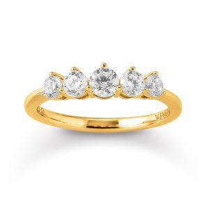 Mestergull Lekkert ring i forgylt sølv med cubic zirkonia VIVENTY Ring