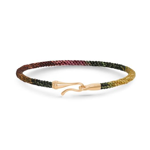 Mestergull Life armbånd med Gult gull lås i fargen Plum (15, 17, 18, 19, 20 eller 21 cm) LYNGGAARD Life Armbånd