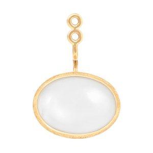 Mestergull Vedheng til Lotus ørepynt i 18 kt. Gult gull med hvit månesten. Selges enkeltvis. LYNGGAARD Lotus Ørepynt