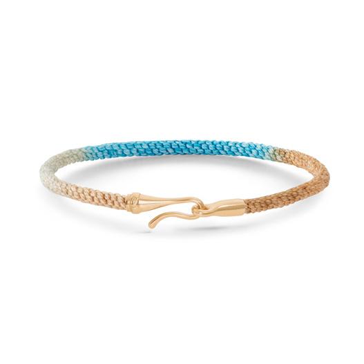 Mestergull Life armbånd med GULT GULL lås i fargen Cornflower (15, 16, 17, 18, 19, 20 eller 21 cm) LYNGGAARD Life Armbånd