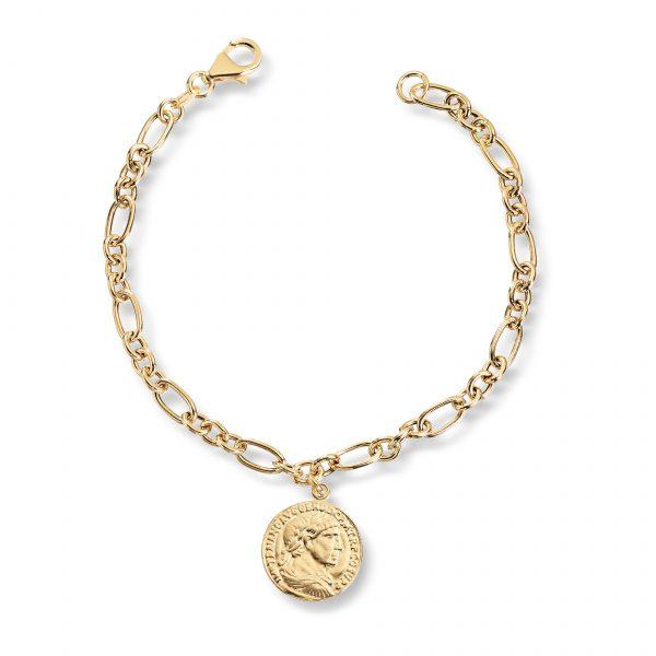 Mestergull Trendy armbånd mynt i forgylt sølv GID Armbånd