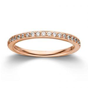 Mestergull Lekker ring i rosèforgylt sølv med cubic zirkonia VIVENTY Ring