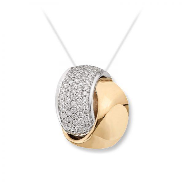 Mestergull Vakkert anheng i flerfarget gull med diamanter MG DIAMONDS Anheng