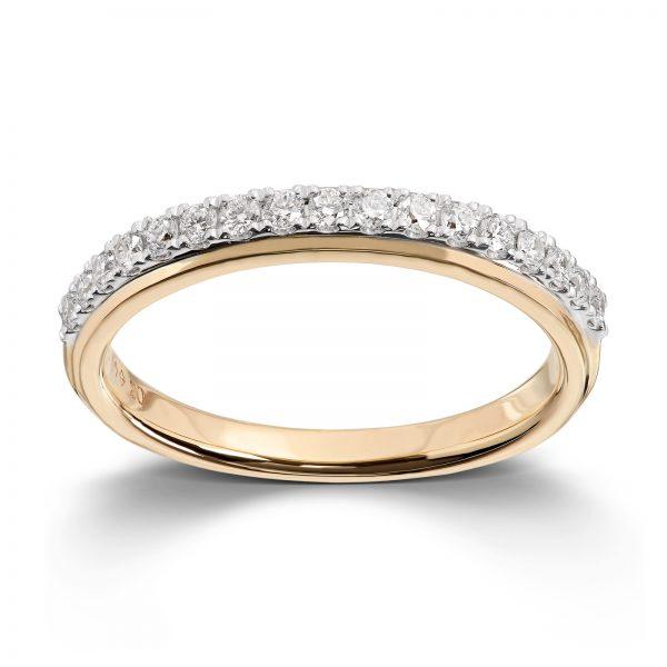 Mestergull Klassisk ring i flerfarget gull med diamanter MG DIAMONDS Ring